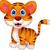 Cute · ребенка · тигр · Cartoon · глаза · лес - Сток-фото © tigatelu