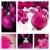 różowy · christmas · dekoracje · ozdoby · pasiasty - zdjęcia stock © tish1