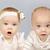 tweeling · baby · broer · zus · meisje · ogen - stockfoto © tish1