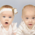 gemelos · hermana · dos · alegre · ninas · calle - foto stock © tish1