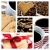 Collage of coffee and heart shaped cookies stock photo © tish1