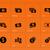 dollar banknote icons on orange background stock photo © tkacchuk