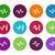 sound circle icons on white background stock photo © tkacchuk