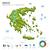 verde · Grecia · mapa · administrativo · capitales · fondo - foto stock © tkacchuk