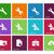 Repair Wrench icons on color background. stock photo © tkacchuk