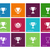 trophy cup icons on color background stock photo © tkacchuk