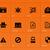 megfigyelés · biztonság · ikonok · vektor · ikon · gyűjtemény · számítógép - stock fotó © tkacchuk