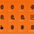 security finger print icons on orange background stock photo © tkacchuk