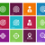 Target icons on color background. stock photo © tkacchuk