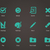 vector · controleren · iconen · web · mobiele - stockfoto © tkacchuk