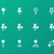mapping pin icons on green background stock photo © tkacchuk