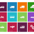 cars and transport icons on color background stock photo © tkacchuk