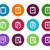 cirkel · iconen · witte · ontwerp · onderwijs - stockfoto © tkacchuk
