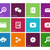 Web icons on color background. stock photo © tkacchuk