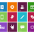 Social icons on color background. stock photo © tkacchuk
