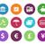 banking circle icons on white background stock photo © tkacchuk