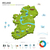 enerji · sanayi · ekoloji · İrlanda · vektör · harita - stok fotoğraf © tkacchuk