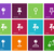 mapping pin icons on color background stock photo © tkacchuk