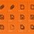 vektor · narancs · mp3 · ikon · letöltés · ikon · művészet - stock fotó © tkacchuk