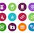 base · de · datos · círculo · iconos · blanco · diseno · servidor - foto stock © tkacchuk