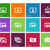 photographs and camera icons on color background stock photo © tkacchuk