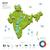 enerji · sanayi · ekoloji · Hindistan · vektör · harita - stok fotoğraf © tkacchuk