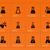 ciência · ícones · laranja · tecnologia · vidro - foto stock © tkacchuk