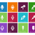 microphone icons on color background stock photo © tkacchuk