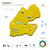 mapa · Djibouti · político · regiones · resumen - foto stock © tkacchuk