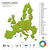 energy industry and ecology of europe political map stock photo © tkacchuk