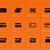 credit card icons on orange background stock photo © tkacchuk
