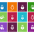 chemical bulb icons on color background stock photo © tkacchuk