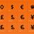 exchange rate icons on orange background stock photo © tkacchuk