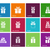 Gift box icons on color background. stock photo © tkacchuk