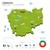 zöld · Kambodzsa · térkép · fővárosok · terv · szín - stock fotó © tkacchuk