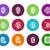 toque · huellas · dactilares · iconos · blanco · búsqueda - foto stock © tkacchuk