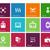 vector · iconos · establecer · azul · círculo · colección - foto stock © tkacchuk