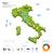 enerji · sanayi · ekoloji · İtalya · vektör · harita - stok fotoğraf © tkacchuk