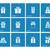 gift box icons on blue background stock photo © tkacchuk