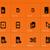 network sim cards icons on orange background stock photo © tkacchuk