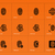 fingerprint icons on orange background stock photo © tkacchuk