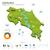 地図 · コスタリカ · 緑 · ベクトル · 孤立した - ストックフォト © tkacchuk