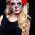 azúcar · cráneo · nina · mujer · flor · cara - foto stock © tobkatrina