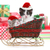 cute kittens in a christmas santa sleigh stock photo © tobkatrina