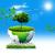 wereldbol · boom · illustratie · ontwerp · witte · wereld - stockfoto © tolokonov