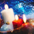christmas backgrounds with candles and garland for your design stock photo © tolokonov