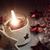 kaars · donut · nieuwe · begin · verjaardag · voedsel - stockfoto © tolokonov