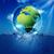 zöld · világ · buborék · absztrakt · természetes · hátterek - stock fotó © tolokonov