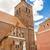 öreg · piros · tégla · katolikus · templom · külső - stock fotó © tomasz_parys