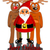 Santa claus with two reindeers stock photo © tomasz_parys